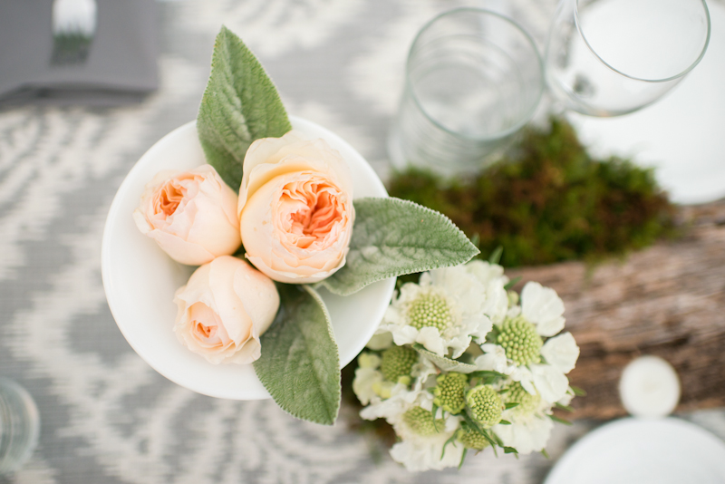 Flowers & Decor, Real Weddings, Rustic Real Weddings, Spring Weddings, Spring Real Weddings, Rustic Weddings, Centerpiece, Peach, Garden roses, Wisconsin Real Weddings, Wisconsin Wedding