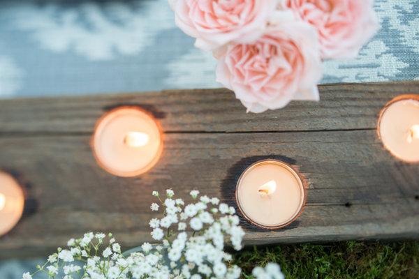 Real Weddings, Candles, Rustic Real Weddings, Spring Weddings, Spring Real Weddings, Rustic Weddings, Grey, Candlelight, Ikat, Wisconsin Real Weddings, Wisconsin Wedding