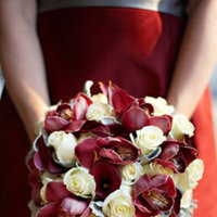 Flowers & Decor, Real Weddings, Wedding Style, red, Bridesmaid Bouquets, West Coast Real Weddings, Classic Real Weddings, Classic Weddings