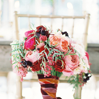 Flowers & Decor, Real Weddings, Wedding Style, pink, red, Bride Bouquets, West Coast Real Weddings, Garden Real Weddings, Garden Weddings, Garden Wedding Flowers & Decor, Romantic Real Weddings, Romantic Weddings