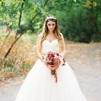Wedding Dresses, Sweetheart Wedding Dresses, Fashion, Real Weddings, Wedding Style, West Coast Real Weddings, Garden Real Weddings, Garden Weddings, Pink Wedding Dresses, Romantic Real Weddings, Romantic Weddings