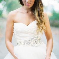 Wedding Dresses, Sweetheart Wedding Dresses, Fashion, Real Weddings, Wedding Style, West Coast Real Weddings, Garden Real Weddings, Garden Weddings, Pink Wedding Dresses, Romantic Real Weddings, Romantic Weddings, wedding sashes