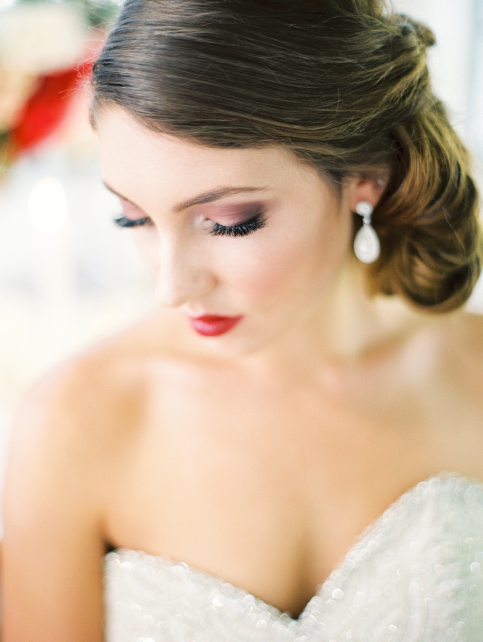 Beauty, Real Weddings, Wedding Style, Makeup, Updo, West Coast Real Weddings, Garden Real Weddings, Garden Weddings, Romantic Real Weddings, Romantic Weddings
