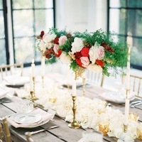 Flowers & Decor, Real Weddings, Wedding Style, ivory, gold, Centerpieces, Candles, West Coast Real Weddings, Garden Real Weddings, Garden Weddings, Classic Wedding Flowers & Decor, Garden Wedding Flowers & Decor, Table settings, Romantic Real Weddings, Romantic Weddings