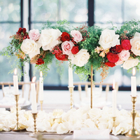 Flowers & Decor, Real Weddings, Wedding Style, ivory, gold, Centerpieces, Candles, West Coast Real Weddings, Garden Real Weddings, Garden Weddings, Classic Wedding Flowers & Decor, Garden Wedding Flowers & Decor, Romantic Real Weddings, Romantic Weddings