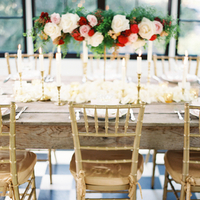 Flowers & Decor, Real Weddings, Wedding Style, ivory, gold, Centerpieces, West Coast Real Weddings, Garden Real Weddings, Garden Weddings, Classic Wedding Flowers & Decor, Garden Wedding Flowers & Decor, Romantic Real Weddings, Romantic Weddings, table setttings