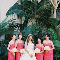 Bridesmaid Dresses, Ball Gown Wedding Dresses, Ruffled Wedding Dresses, Hollywood Glam Wedding Dresses, Traditional Wedding Dresses, Fashion, Real Weddings, Wedding Style, white, pink, Summer Weddings, West Coast Real Weddings, Classic Real Weddings, Glam Real Weddings, Summer Real Weddings, Classic Weddings, Glam Weddings