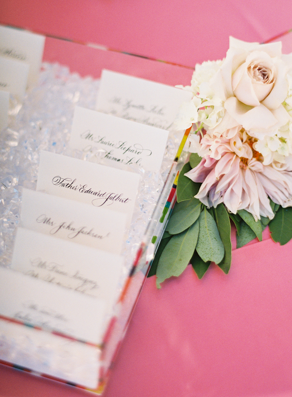 Flowers & Decor, Stationery, Real Weddings, Wedding Style, ivory, pink, Escort Cards, Summer Weddings, West Coast Real Weddings, Classic Real Weddings, Glam Real Weddings, Summer Real Weddings, Classic Weddings, Glam Weddings, Classic Wedding Flowers & Decor, Summer Wedding Flowers & Decor