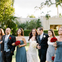 Real Weddings, red, black, Wedding party, Grey, Elegant, Glamorous, Old hollywood, Red roses, Jessica Lorren Organic Photography
