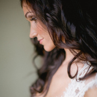 Beauty, Real Weddings, Down, Hair, Elegant, Glamorous, Curly, Old hollywood, Jessica Lorren Organic Photography