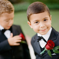 Real Weddings, red, black, Elegant, Ring bearer, Tuxedo, Glamorous, Old hollywood, Jessica Lorren Organic Photography, red rose boutonniere