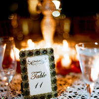 Reception, Real Weddings, Elegant, Table number, Glamorous, Old hollywood, Jessica Lorren Organic Photography