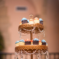 Cakes, Real Weddings, orange, blue, Cupcakes, Dessert, Elegant, Glamorous, Old hollywood, Jessica Lorren Organic Photography