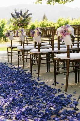 Flowers & Decor, Real Weddings, purple, Aisle Decor, Rustic Real Weddings, West Coast Real Weddings, Vineyard Real Weddings, Rustic Weddings, Vineyard Weddings, Rustic Wedding Flowers & Decor, Vineyard Wedding Flowers & Decor