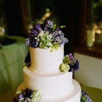 Cakes, Real Weddings, Wedding Style, white, purple, green, Round Wedding Cakes, Vineyard Wedding Cakes, Wedding Cakes, Rustic Real Weddings, West Coast Real Weddings, Vineyard Real Weddings, Rustic Weddings, Vineyard Weddings