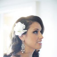 Beauty, Jewelry, Real Weddings, ivory, Hair, Elegant, Fascinator, Chic, Sophisticated, Northeast weddings, old hollywood glamour
