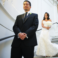 Real Weddings, ivory, Elegant, First look, Staircase, Chic, Sophisticated, Northeast weddings