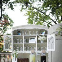 Reception, Real Weddings, ivory, Elegant, Chic, Lemonade, Refreshments, Sophisticated, Mason jars, Northeast weddings