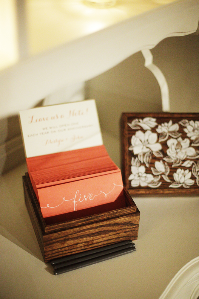 Stationery, Real Weddings, ivory, Guest book, Elegant, Coral, Chic, Sophisticated, Northeast weddings