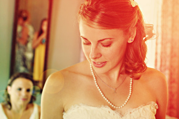 Beauty, Jewelry, Necklaces, Makeup, Half-up, Southern Real Weddings, Bridal makeup