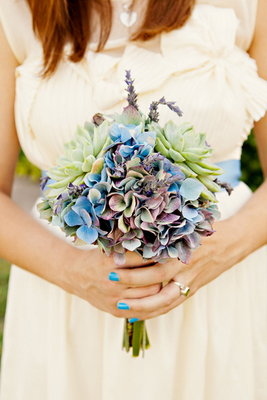 Flowers & Decor, Real Weddings, Wedding Style, blue, green, Bridesmaid Bouquets, Southern Real Weddings, Summer Weddings, Summer Real Weddings, Beach Weddings, Rustic Flowers & Decor, Beach Flowers & Decor