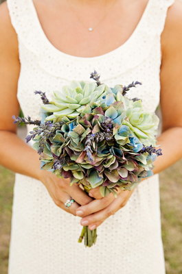 Flowers & Decor, Real Weddings, Wedding Style, blue, green, Bridesmaid Bouquets, Southern Real Weddings, Summer Weddings, Summer Real Weddings, Bridal Bouquets, Rustic Flowers & Decor