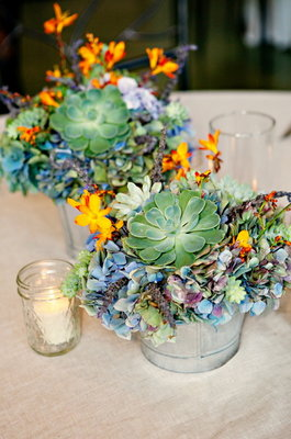 Centerpieces, Southern Real Weddings