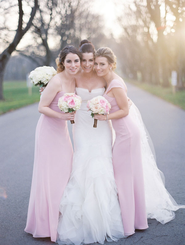 Bridesmaids, Real Weddings, Wedding Style, pink, Winter Weddings, Classic Real Weddings, Midwest Real Weddings, Winter Real Weddings, Classic Weddings