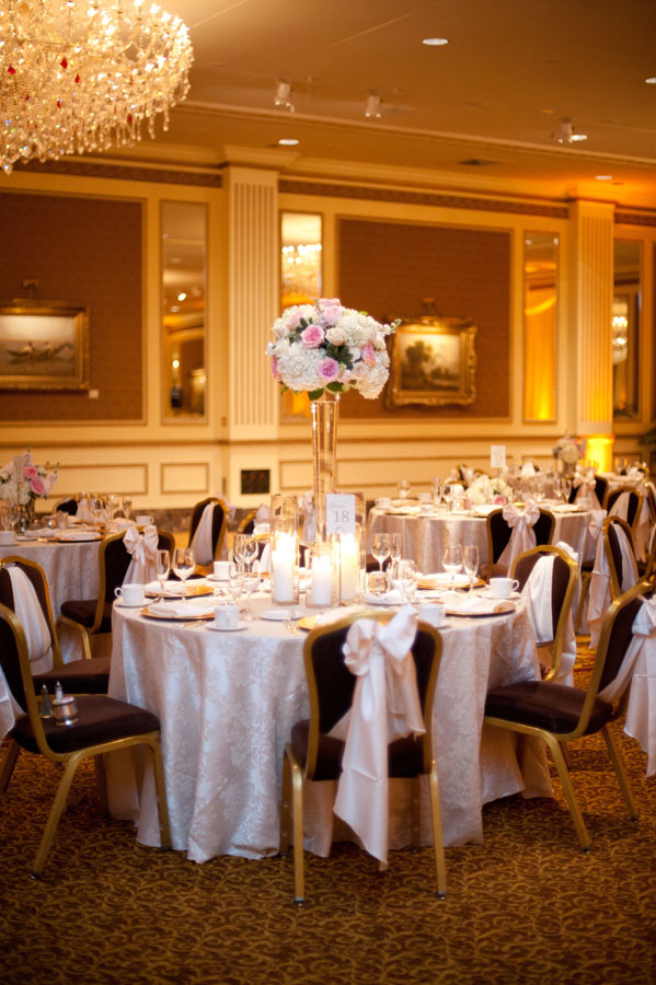 Flowers & Decor, Real Weddings, Wedding Style, pink, Centerpieces, Tables & Seating, Winter Weddings, Classic Real Weddings, Midwest Real Weddings, Winter Real Weddings, Classic Weddings, Glam Wedding Flowers & Decor