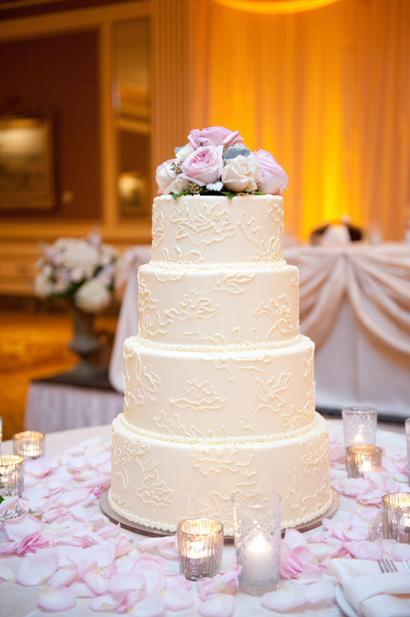 Cakes, Real Weddings, Wedding Style, white, Classic Wedding Cakes, Floral Wedding Cakes, Winter Weddings, Classic Real Weddings, Midwest Real Weddings, Winter Real Weddings, Classic Weddings