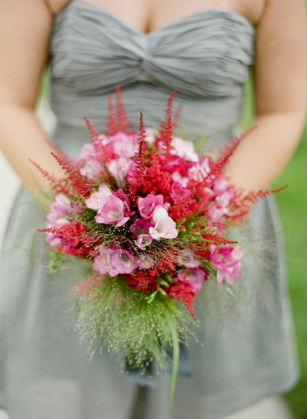 Flowers & Decor, Real Weddings, Wedding Style, pink, gray, Bridesmaid Bouquets, Beach Real Weddings, Summer Weddings, West Coast Real Weddings, Summer Real Weddings, Beach Weddings, Beach Wedding Flowers & Decor, Summer Wedding Flowers & Decor, Nautical Weddings, Nautical Real Weddings