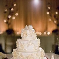 Cakes, Real Weddings, Wedding Style, ivory, burgundy, Round Wedding Cakes, Wedding Cakes, Beach Real Weddings, Summer Weddings, West Coast Real Weddings, Summer Real Weddings, Beach Weddings, Nautical Weddings, Nautical Real Weddings