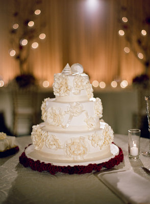 Cakes, Real Weddings, Wedding Style, ivory, burgundy, Round Wedding Cakes, Wedding Cakes, Beach Real Weddings, Summer Weddings, West Coast Real Weddings, Summer Real Weddings, Beach Weddings, Nautical Weddings, Nautical Real Weddings