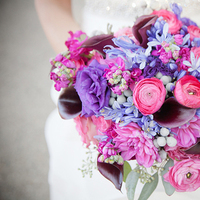 Flowers & Decor, Real Weddings, pink, purple, blue, Bride Bouquets, Classic Real Weddings, Fall Real Weddings, Midwest Real Weddings, City Weddings, Violet, Bridal Bouquets, Midwest Weddings, City Real Wedding, Autumn Real Weddings, Chicago Real Weddings, Chicago Weddings