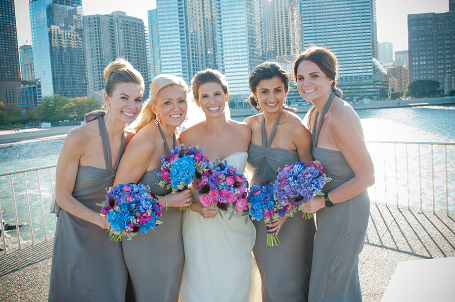 Bridesmaids, Real Weddings, purple, Classic Real Weddings, Fall Real Weddings, Midwest Real Weddings, City Weddings, Grey, Bridal party, Violet, Midwest Weddings, City Real Wedding, Autumn Real Weddings, Chicago Real Weddings, Chicago Weddings