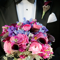 Flowers & Decor, Real Weddings, pink, purple, blue, Classic Real Weddings, Fall Real Weddings, Midwest Real Weddings, City Weddings, Calla-lilies, Ranunculus, Bride bouquet, Violet, Bridal Bouquets, Midwest Weddings, City Real Wedding, Autumn Real Weddings, Chicago Real Weddings, Chicago Weddings