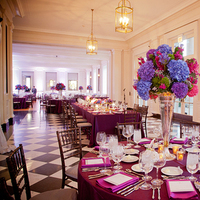 Reception, Flowers & Decor, Real Weddings, pink, purple, blue, Centerpieces, Classic Real Weddings, Fall Real Weddings, Midwest Real Weddings, City Weddings, Classic Wedding Flowers & Decor, Midwest Weddings, City Real Wedding, checkered floor, Autumn Real Weddings, Chicago Real Weddings, Chicago Weddings