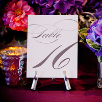 Reception, Flowers & Decor, Stationery, Real Weddings, Centerpieces, Table Numbers, Table Names, Classic Real Weddings, Fall Real Weddings, Midwest Real Weddings, City Weddings, Classic Wedding Flowers & Decor, Midwest Weddings, City Real Wedding, Autumn Real Weddings, Chicago Real Weddings, Chicago Weddings