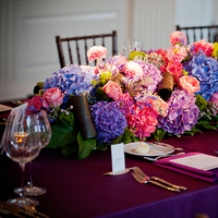 Reception, Flowers & Decor, Real Weddings, Wedding Style, pink, purple, blue, Centerpieces, Classic Real Weddings, Fall Real Weddings, Midwest Real Weddings, Midwest Weddings, City Real Wedding, Autumn Real Weddings, Chicago Real Weddings, Chicago Weddings, City Wedding