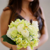 Flowers & Decor, Real Weddings, Wedding Style, ivory, green, Bridesmaid Bouquets, Beach Real Weddings, Beach Weddings