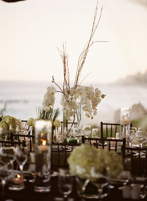 Flowers & Decor, Real Weddings, Wedding Style, ivory, green, brown, Centerpieces, Beach Real Weddings, Beach Weddings, Beach Wedding Flowers & Decor