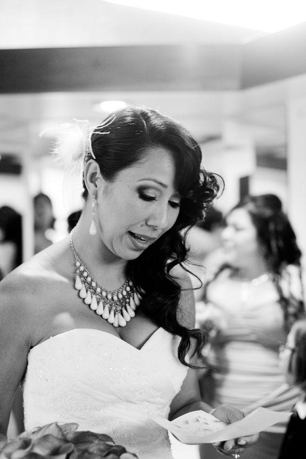 Beauty, Real Weddings, Wedding Style, Makeup, Down, Wavy Hair, Long Hair, Modern Real Weddings, Summer Weddings, Summer Real Weddings, Modern Weddings