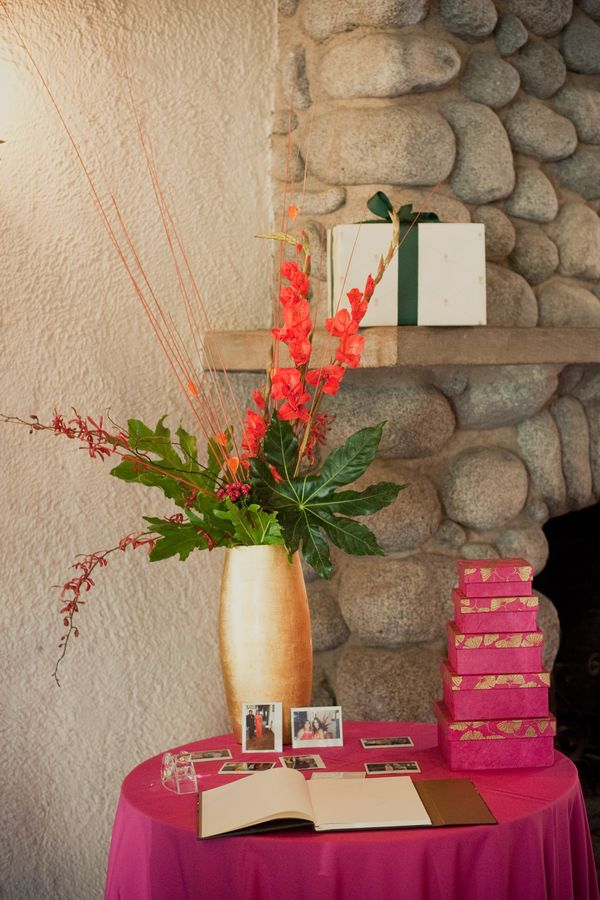 Flowers & Decor, Stationery, Real Weddings, Wedding Style, pink, Ceremony Flowers, Guestbooks, Modern Real Weddings, Summer Weddings, Summer Real Weddings, Modern Weddings