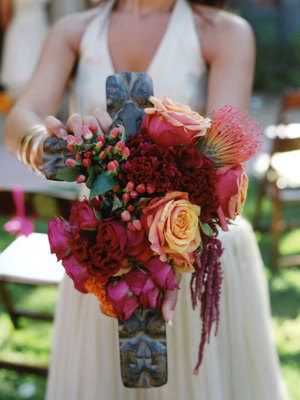 Flowers & Decor, Real Weddings, Wedding Style, pink, red, Bridesmaid Bouquets, Summer Weddings, West Coast Real Weddings, Summer Real Weddings, Summer Wedding Flowers & Decor