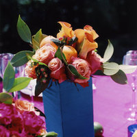 Flowers & Decor, Real Weddings, Wedding Style, pink, blue, Centerpieces, Summer Weddings, West Coast Real Weddings, Summer Real Weddings, Summer Flowers & Decor