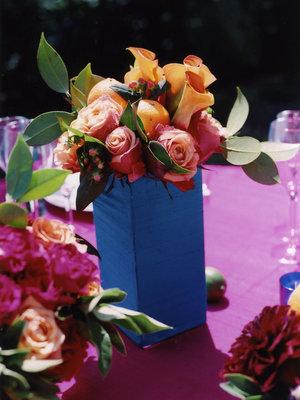 Flowers & Decor, Real Weddings, Wedding Style, pink, blue, Centerpieces, Summer Weddings, West Coast Real Weddings, Summer Real Weddings, Summer Flowers & Decor