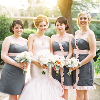 Flowers & Decor, Real Weddings, pink, Bridal party, Bridesmaids bouquets, Bridesmaids Dresses, Platinum, Ruffles, Same sex wedding, Summer Weddings, Summer Real Weddings, Romantic Real Weddings, Same Sex Real Weddings, Gay Real Weddings, Gay Weddings, Romantic Weddings, Texas Real Weddings, Texas Weddings