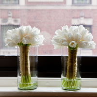 Flowers & Decor, Real Weddings, Wedding Style, ivory, Bridesmaid Bouquets, Spring Weddings, City Real Weddings, Classic Real Weddings, Midwest Real Weddings, Spring Real Weddings, City Weddings, Classic Wedding Flowers & Decor, Spring Wedding Flowers & Decor, Tulips