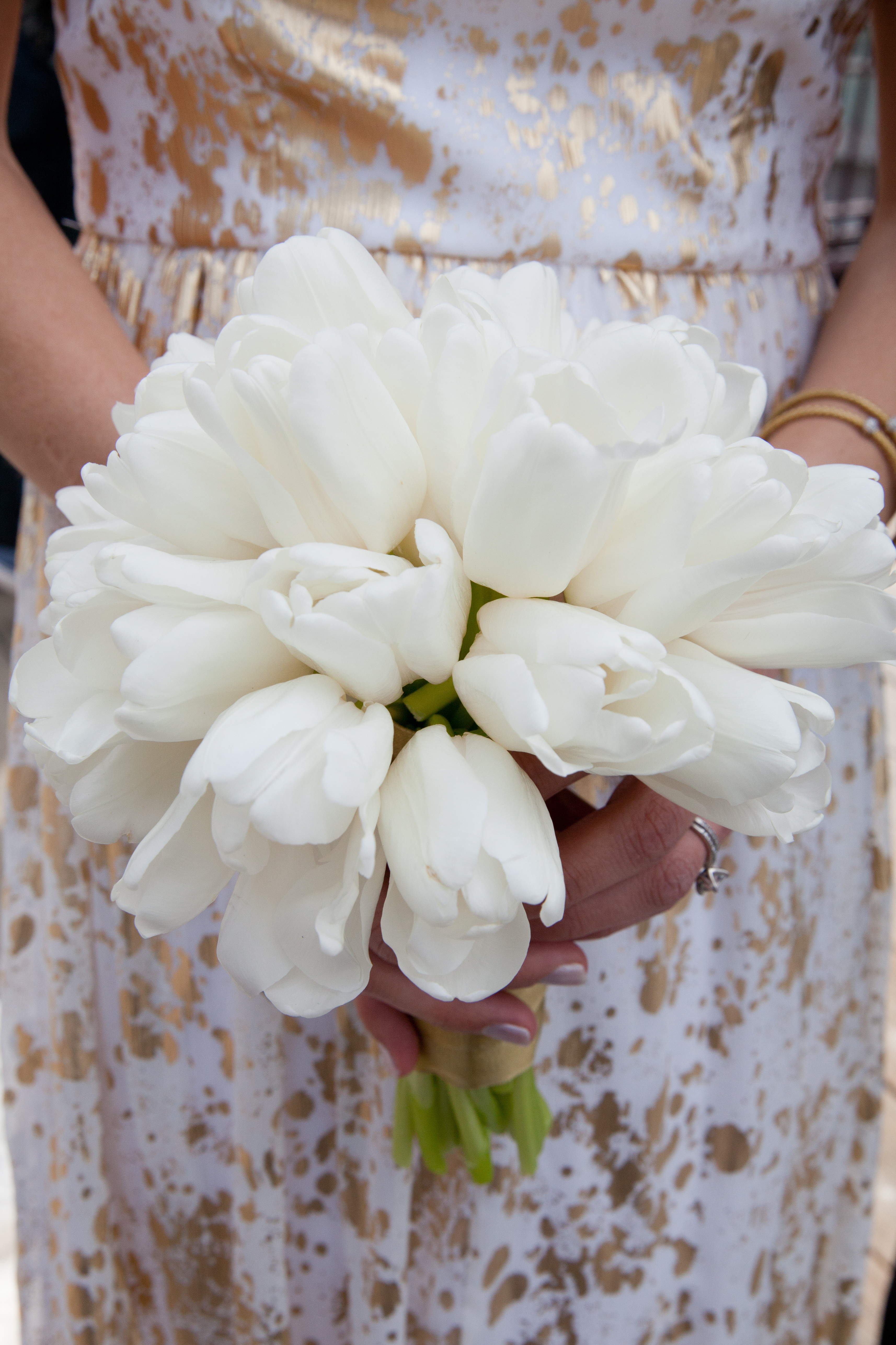 Flowers & Decor, Real Weddings, Wedding Style, ivory, Bridesmaid Bouquets, Spring Weddings, City Real Weddings, Classic Real Weddings, Midwest Real Weddings, Spring Real Weddings, City Weddings, Spring Wedding Flowers & Decor, Tulips