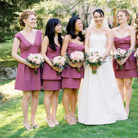Bridesmaids Dresses, Bridesmaid Dresses, Fashion, Real Weddings, Wedding Style, pink, purple, Spring Weddings, Garden Real Weddings, Spring Real Weddings, Garden Weddings